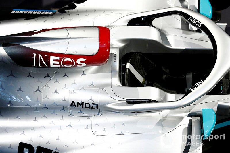 Mercedes AMG F1 renk düzeni detayı