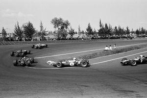 Renn-Action beim GP Mexiko 1966 in Mexico City