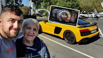 to-share-his-passion-for-the-ring-misha-invited-his-grandma-to-ride-shotgun-for-a-lap-in-an-audi-r8