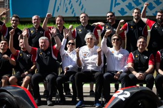 Nissan e.Dams team photo in the pit lane