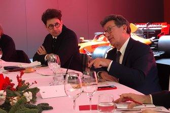 Mattia Binotto, Team Principal Ferrari and Louis Camilleri, Ferrari Chairman at the Ferrari Christmas lunch