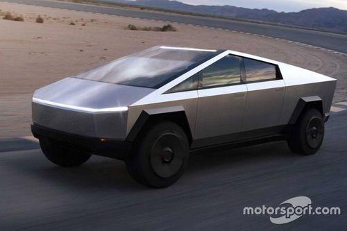 Watch mini Tesla Cybertruck drag race a DeLorean