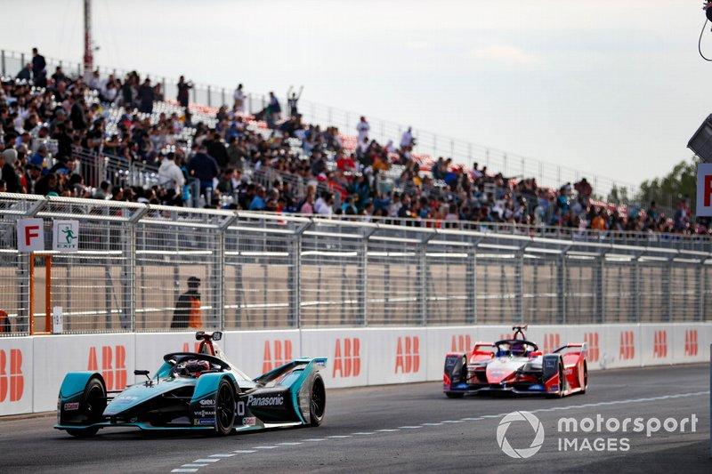 Mitch Evans, Jaguar Racing, Jaguar I-Type 4 Pascal Wehrlein, Mahindra Racing, M6Electro