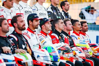 Lucas Di Grassi, Audi Sport ABT Schaeffler, Daniel Abt, Audi Sport ABT Schaeffler, Sébastien Buemi, Nissan e.Dams, Oliver Rowland, Nissan e.Dams at the drivers' photo