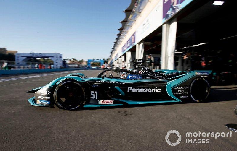 James Calado, Jaguar Racing, Jaguar I-Type 4 exits the garage