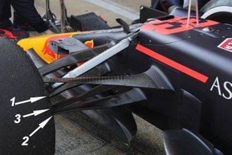 Dettagli sospensione anteriore Red Bull Racing RB16