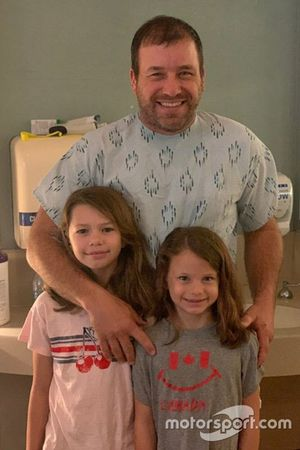 Ryan Newman with his daughters Brooklyn Sage, Ashlyn Olivia