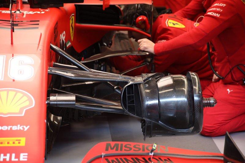 Ferrari SF1000 front brakes detail
