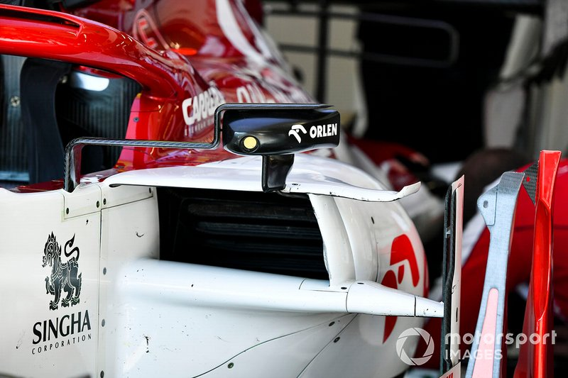 Wing mirror aero detail on Alfa Romeo Racing C39