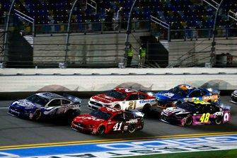 Kevin Harvick, Stewart-Haas Racing, Ford Mustang Busch Light #PIT4BUSCH, Cole Custer, Stewart-Haas Racing, Ford Mustang Haas Automation