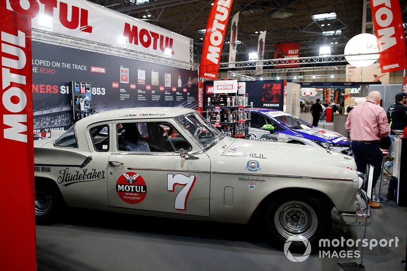 A Studebaker on display on the Motul stand at Autosport International 2020