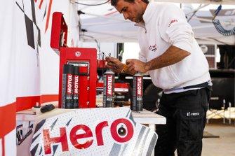 Hero Motosports Team Rally member at work