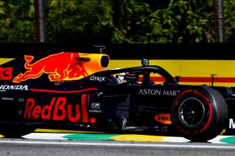 Race winner Max Verstappen, Red Bull Racing RB15 celebrates