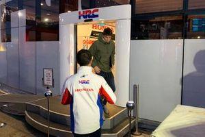Alex Marquez at the Honda HRC motorhome