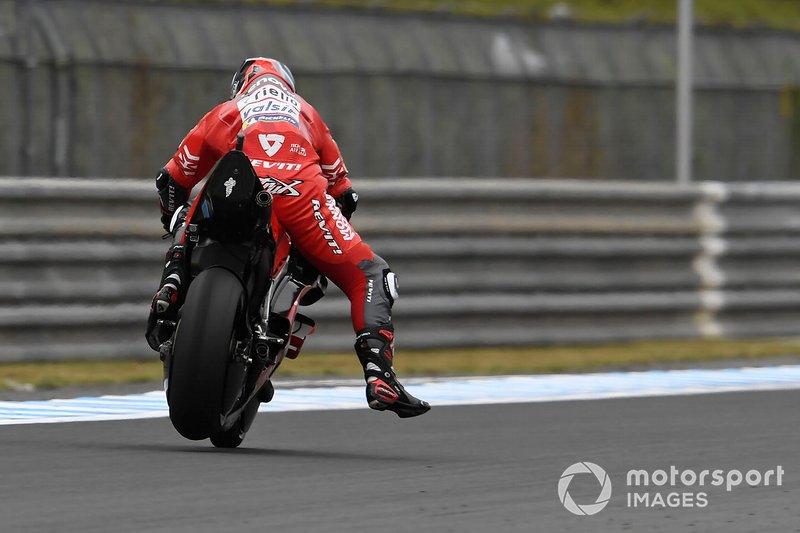 Danilo Petrucci, Ducati Team, braking