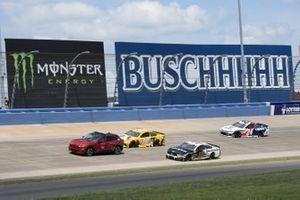 Kyle Busch, Joe Gibbs Racing, Toyota Camry Pedigree, Aric Almirola, Stewart-Haas Racing, Ford Mustang Smithfield, William Byron, Hendrick Motorsports, Chevrolet Camaro Liberty University
