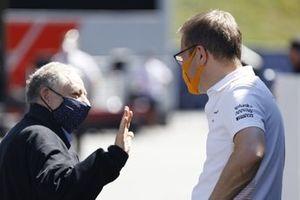 FIA president Jean Todt, Team Principal Mclaren Andreas Seidl