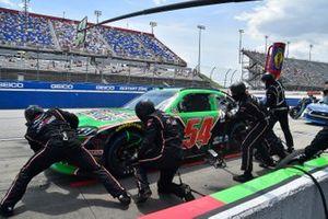 Ty Giibs, Joe Gibbs Racing, Toyota Supra Interstate Batteries effectue un arrêt au stand