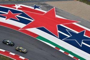 Brandon Jones, Joe Gibbs Racing, Toyota Supra YeeYee and Riley Herbst, Stewart-Haas Racing, Ford Mustang Monster Energy