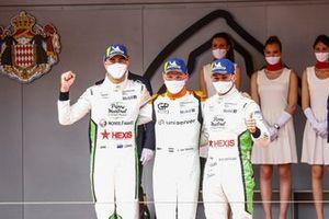 Podium: Race winner Larry ten Voorde, GP Elite, second place Jaxon Evans, Pierre martinet by Alméras, third place Dorian Boccolacci, Pierre martinet by Alméras