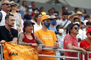 Max Verstappen fans in a grandstand