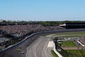 Start, Scott Dixon, Chip Ganassi Racing Honda
