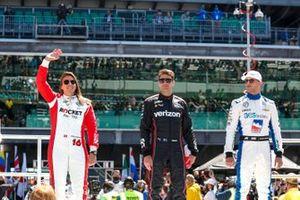 Will Power, Team Penske Chevrolet, Simona De Silvestro, Paretta Autosport Chevrolet, Sage Karam, Dreyer & Reinbold Racing Chevrolet