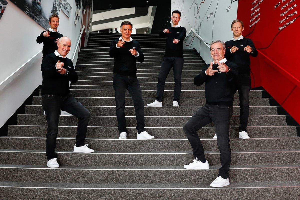 Édouard Boulanger, Stéphane Peterhansel, Lucas Cruz, Emil Bergkvist, Carlos Sainz, Mattias Ekström, Audi Sport