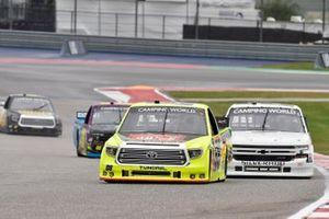 Matt Crafton, ThorSport Racing, Toyota Tundra Oklahoma Joe's/Menards, Sheldon Creed, GMS Racing, Chevrolet Silverado GMS Racing