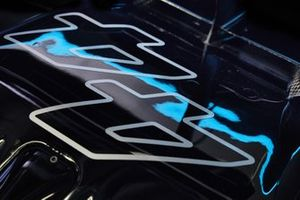 The race number on the car of Lewis Hamilton, Mercedes W12