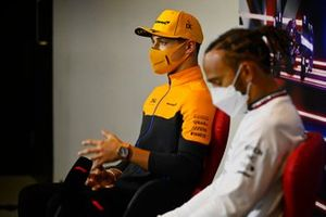 Lando Norris, McLaren, in the press conference