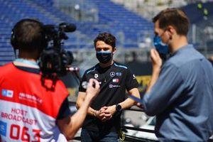 Nyck de Vries, Mercedes-Benz EQ, is interviewed