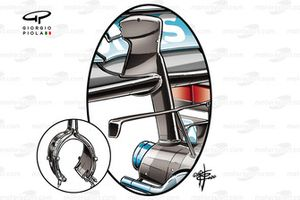 Mercedes AMG F1 W12 rear wing with single pillar