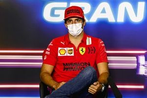 Carlos Sainz Jr., Ferrari in the Press Conference