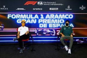 Ландо Норрис, McLaren, Лэнс Стролл, Aston Martin, на пресс-конференции