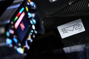 Mapa del circuito dentro del Mercedes W12