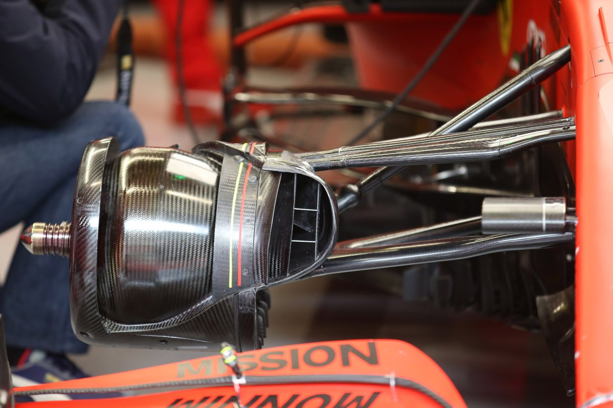 Ferrari SF1000 brake duct detail