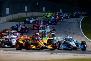 Josef Newgarden, Team Penske Chevrolet e Ryan Hunter-Reay, Andretti Autosport Honda