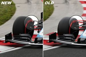 Williams FW43, front supsension and front wing