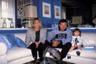 Riccardo Patrese mit Ehefrau Suzy und Tochter