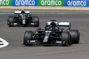 Lewis Hamilton, Mercedes F1 W11 and Valtteri Bottas, Mercedes F1 W11