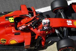 Charles Leclerc, Ferrari SF1000, in Parc Ferme after Qualifying