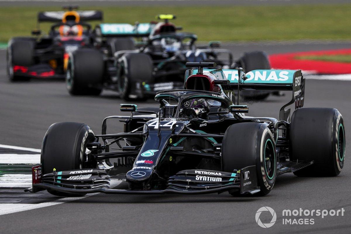 Lewis Hamilton, Mercedes F1 W11,lValtteri Bottas, Mercedes F1 W11, Max Verstappen, Red Bull Racing RB16