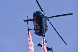 The Flying Bulls MBB Bo 105C performs for the crowds