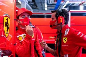 Charles Leclerc, Ferrari, with Xavier Marcos, Race Engineer, Ferrari