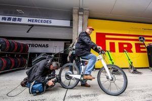 Niki Lauda, presidente no ejecutivo del equipo Mercedes F1