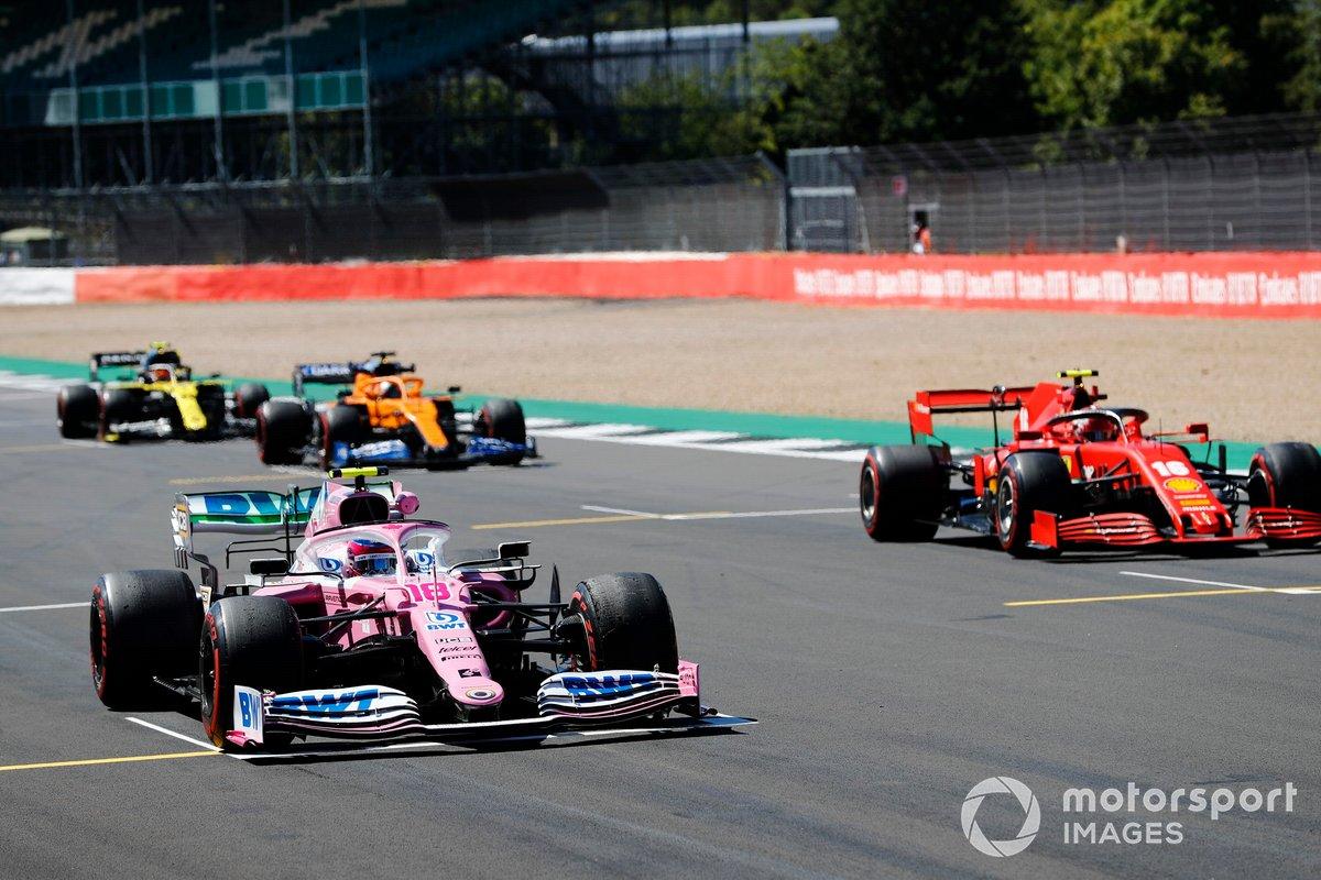 Lance Stroll, Racing Point RP20, Charles Leclerc, Ferrari SF1000, Carlos Sainz Jr., McLaren MCL35, Esteban Ocon, Renault F1 Team R.S.20