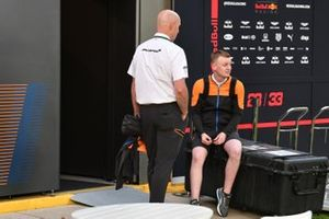 McLaren team members in the paddock