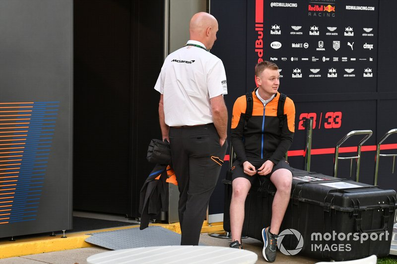 McLaren team members in the paddock
