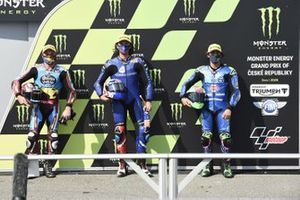Polesitter Joe Roberts, American Racing, second place Sam Lowes, Marc VDS Racing, third place Enea Bastianini, Italtrans Racing Team